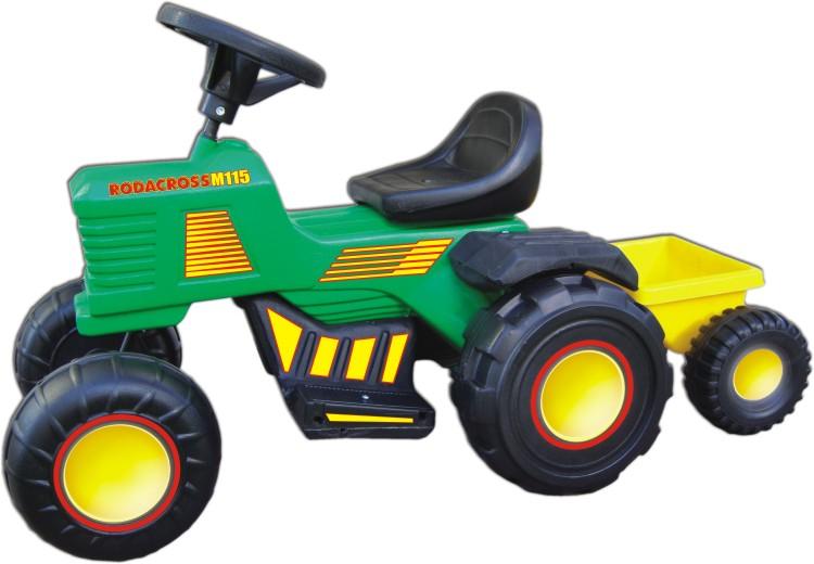 Tractor Electrico Rodacross 6v Con Trailer Carga Juguetes AU/116