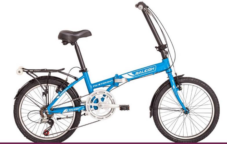Bicicleta Plegable Raleigh Folding Straight Rodado 20 6v Aluminio
