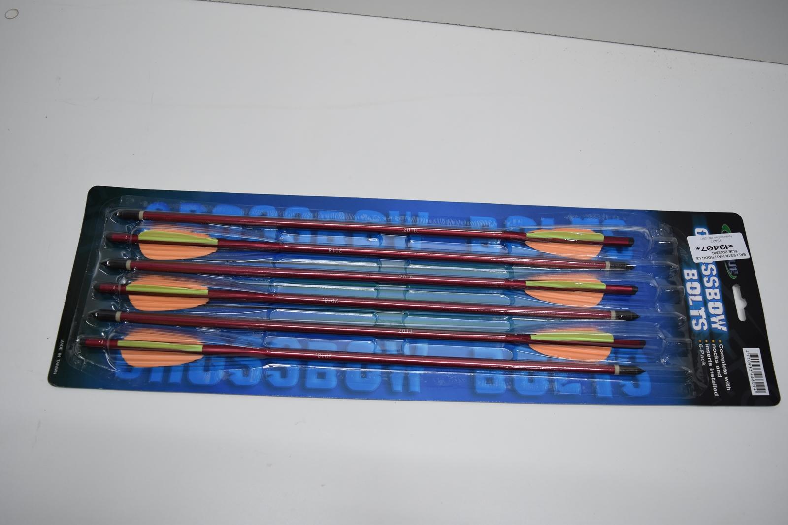 Flecha De Aluminio Para Ballesta Leslie 16″ Roja 6 Unidades