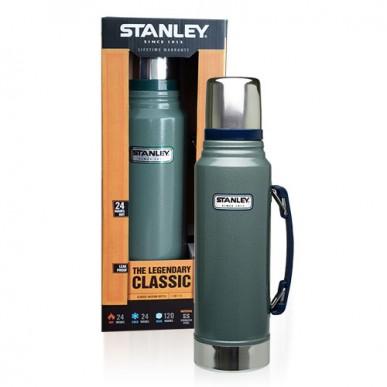 Termo Stanley 1 Litro Clasicc Verde Con Manija