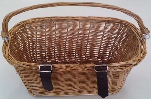 Canasto Vintage para Bicicleta de Mimbre con Manija 36x27x27