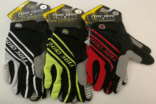 Guantes Fire Bird Dedos Largos Modelo Duo 3 Colores M-L-XL