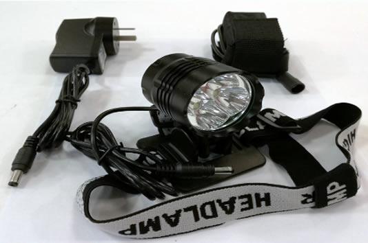 Luz Led Multiuso para Bicicleta o tipo Minero 4800 Lumenes Recargable